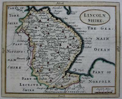 LINCOLNSHIRE   BY JOHN SELLER AND FRANCIS GROSE GENUINE ANTIQUE MAP  c1787