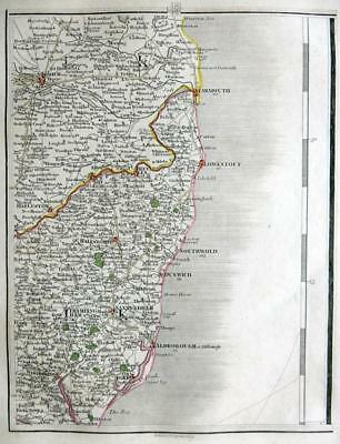 NORFOLK SUFFOLK NORWICH YARMOUTH  BY JOHN CARY GENUINE ANTIQUE MAP  c1794