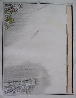 ESSEX  KENT  MARGATE RAMSGATE HARWICH  JOHN CARY GENUINE ANTIQUE MAP  c1824