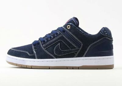 brand new 1ef0b db49b Nike SB Air Force 2 II Low QS DENIM BLUE TUPAC BIGGIE EAST WEST RIVAL AO0298