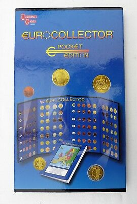 European Coin Collector Gift Set Folder Including Coins From First 12 Countries