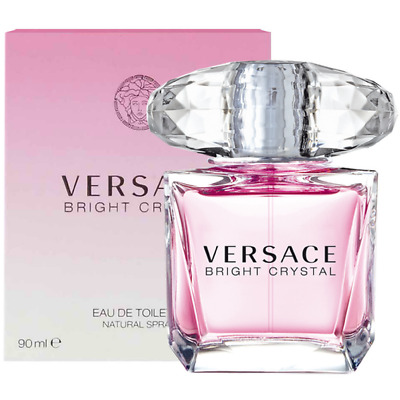 New & Sealed Versace BRIGHT CRYSTAL Women's 3.0 OZ / 90 ML EDT Toilette Spray