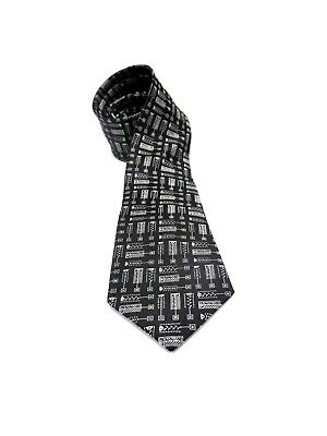 7bb481fb9586 Frank Lloyd Wright TREE OF LIFE Museum Design Art Inspired Silk TIE Black  Woven