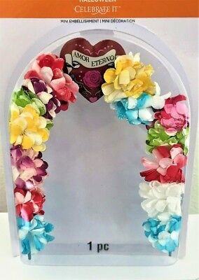 Flowered-Great for Wedding Scene or Party Dollhouse Miniature Arch or Entryway