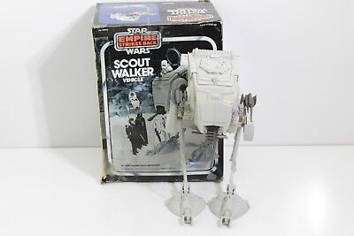 Vintage 1983 Star Wars Empire Strikes Back Scout Walker Vehicle With Box