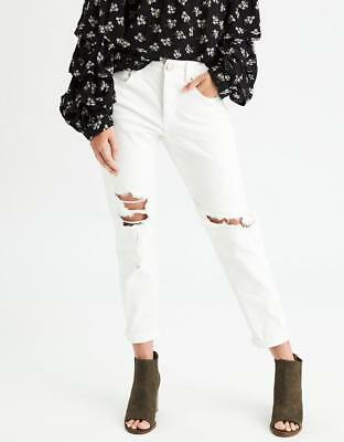 ceee119809 *NWOT AMERICAN EAGLE OUTFITTERS AEO DENIM TOMGIRL GLEAM WHITE JEANS sz 18S