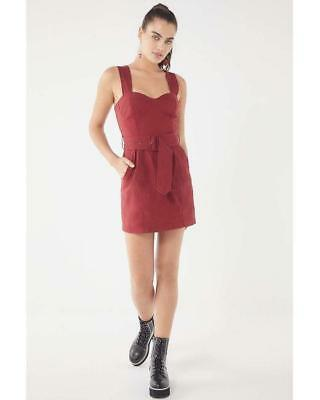 54e409c8d3e (NWOT URBAN OUTFITTERS UO ANGELIQUE BELTED STRETCH LINEN DRESS sz 0) as is