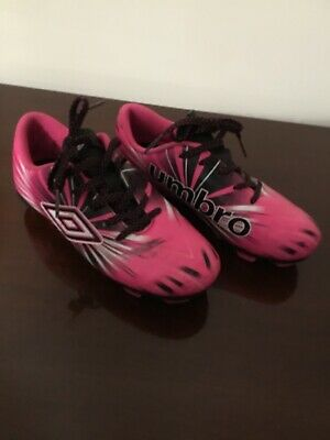 5b1f7d9c5 Umbro Youth Girls Arturo Soccer Cleats lace-up Shoes Pink & Black Size 13K  SPARE