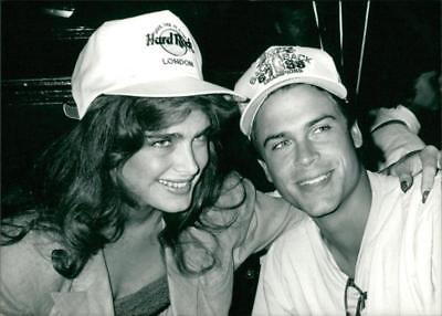 Brooke Shields and Rob Lowe. - Vintage photo