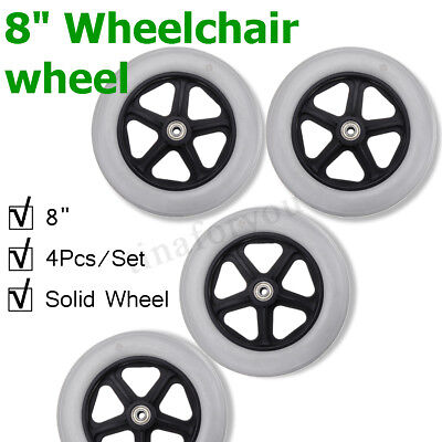 4Pcs Caster Wheel With Bearing for Rollator Walker Replacement Parts 190x35mm UK