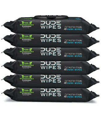 DUDE Wipes Flushable Wet Wipes Dispenser Unscented with Vitamin-E Aloe