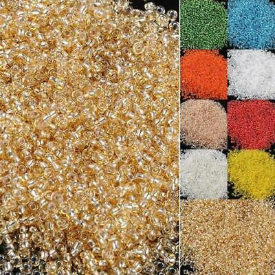 Bulk Lot 2mm czech glass seed spacer beads jewelry making diy pick 22 colors SY