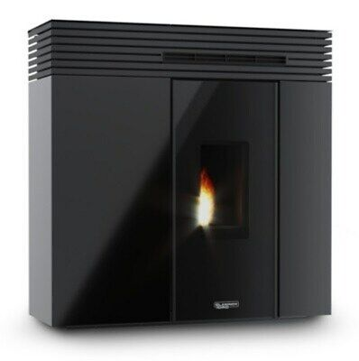 Stufa A Pellet Laminox Veronica Ghost Air 10Kw Black Line Vetro Oscurato Nero