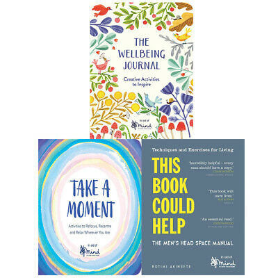 MIND 3 Books Collection Set New Pack Wellbeing Journal,Take a Moment,Book Could