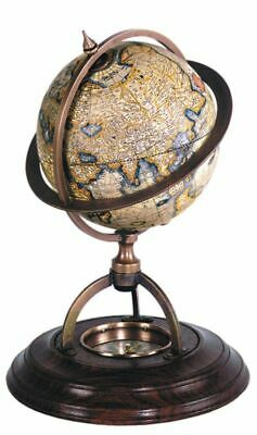 G326: Earth Globe with Compass,Historic Globe,Terrestrial Globe
