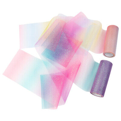 10yard Rainbow Glitter Tulle Roll Sequin Organza Sheer