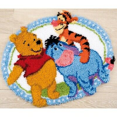 Winnie The Pooh, Eeyore And Tigger Latch Hook Rug Kit, Cartoon Disney