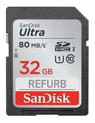 SanDisk 32GB Ultra Class 10 UHS-I SD 48MBs SDHC / SDXC memory card LOT 5 10