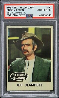 1963 Jed Clampett Beverly Hillbillies #61 Signed Trading Card (PSA/DNA Slabbed)