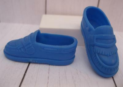 KEN DOLL Fashionista Fashion clothes: BLUE Dress-up Shoes Casual Penny Loafers