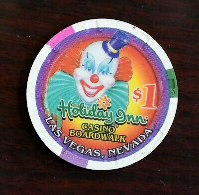 Holiday Inn Boardwalk Casino Gaming Dollar Token Chip Las Vegas Nevada Clown