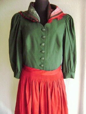 @Wenger@ Dress Landhaus Green 3/4 Sleeve GR. 42 Size XL UK 16 US 14 Uniform