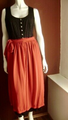 @ Salzburger Dirndl Look @ Dirndl Black + Apron Red 4XL UK 20 US 1x Gr. 48