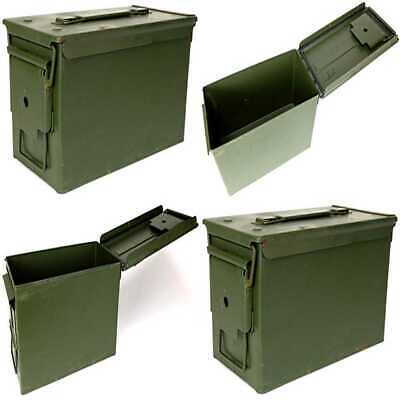 Previously Issued U.S. G.I. M2A1 Metal 50 Caliber Ammo Box FREE SHIPPING