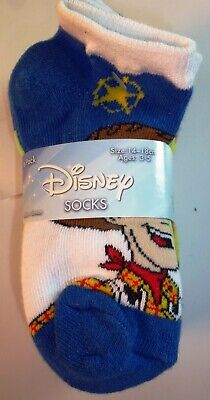 6 Pairs Disney Boys Girls Monsters Toy Story Incredibles Socks Size 6-7.5 L186