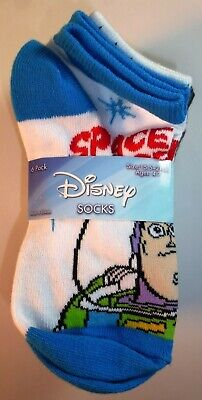 6 Pairs Disney Boys Girls Monsters Toy Story Incredibles Socks Size 7-8.5 L180