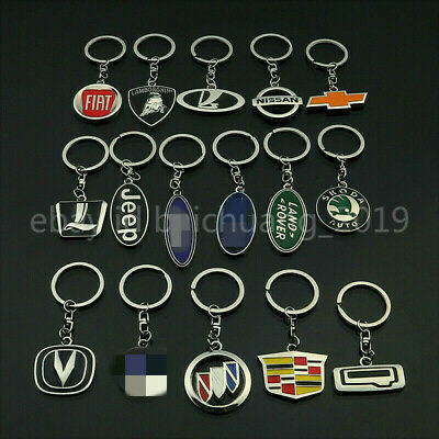 New 3D Key Car Logo Style Keychain Metal Emblem Pendant Key Holder Keyring Gift