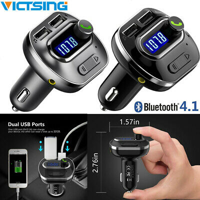 Wireless Bluetooth FM Transmitter LCD Car MP3 AUX USB Disk Charger Handsfree Kit