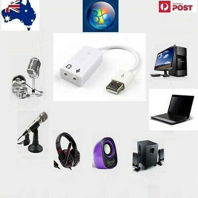 USB 2.0 AUDIO SOUND CARD ADAPTER CABLE 3D VIRTUAL 7.1 CH Win7
