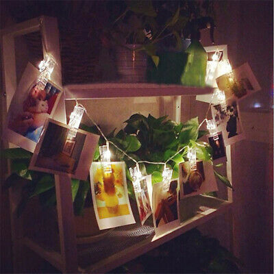 20 LED Hanging String Light with Card Photo Clip Festival Party Decor CB