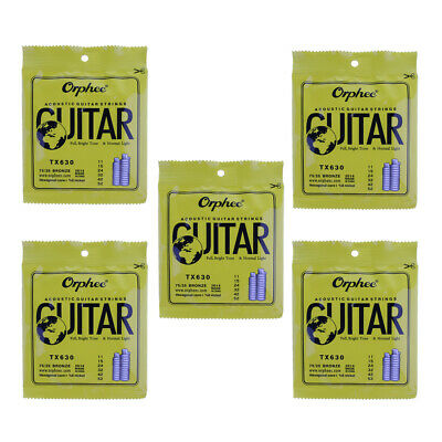 6pcs TX630 Guitar String Good Sound for Acoustic Folk Guitar Replacements