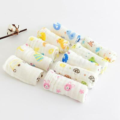 Baby Handkerchief Square 6Layer Towel Muslin Cotton Infant Face Towel Wipe Cloth
