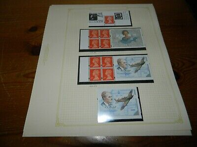 GB QEII DECIMAL COLLECTION OF 1st CLASS LABEL PANES OF 4 & SINGLES