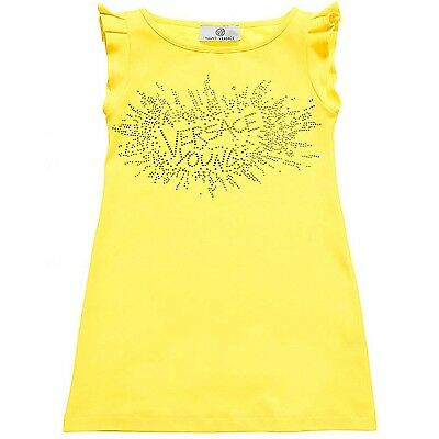 Young Versace Girls Yellow Beach Dress BNWT