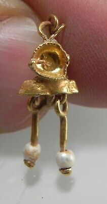 Zurqieh -As12369- Ancient Roman Gold Earring With Pearls (1 Pc) . 200 - 300 A.d