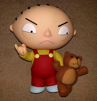 """Family Guy Mezco Deluxe 12"""" Talking Stewie with Rupert"""