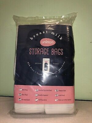 HUGE LOT of 300! Unimom Breast Milk Storage Bags 8oz (Bags Only) NEW!!
