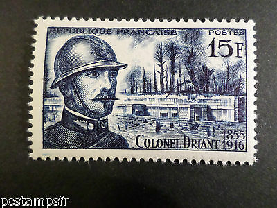 FRANCE 1956 timbre 1052, colonel Driant neuf**