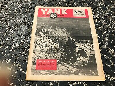 FEB 28 1943 YANK military magazine WWII (BRITISH) pinup - ALEXIS SMITH