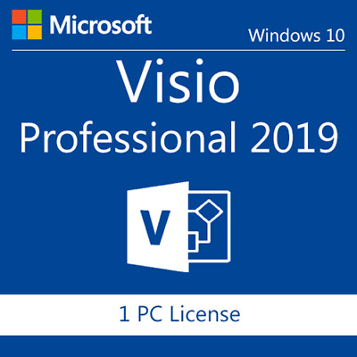 Genuine MS Visio 2019 Professional 32/64 bit. Product Key / Code + Download LINK