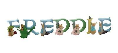 Official Licensed Beatrix Potter Peter Rabbit Boys Name Freddie Alphabet Letters