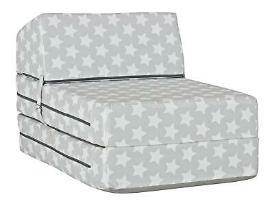 NEW Silver Stars Single Chair Chairbed Foam Guest Bed