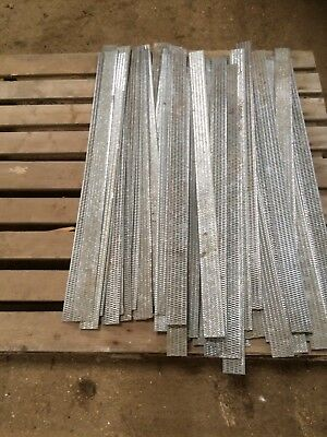 Galvanised 10 x 36 inch x 2 inch perforated metal strips