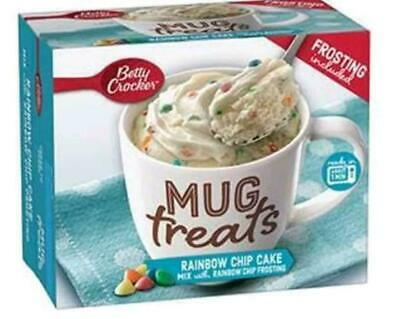 Betty Crocker Rainbow Chip Cake Mug Treat Frosting Included Quick Cake Snack