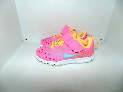 sports shoes 4c624 3c6d5 Toddler Girl 9 9c Nike Free Express Hot Pink Running Athletic Shoes