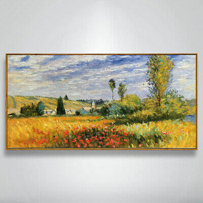 Ss365 Wall Decor Art Monet Style Landscape Canvas Oil Painting 100% Hand-Painted